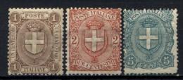 Italia Regno 1896 Sass.65/67 **/MNH VF/F