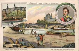 Chocolat Lombart. Les Pont De Paris. Le Pont Du CarrouseI. Format CPA - Lombart