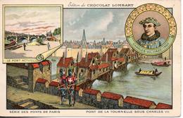 Chocolat Lombart. Les Pont De Paris. Le Pont De La Tournelle Sous Charles VII. Format CPA - Lombart