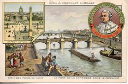 Chocolat Lombart. Les Pont De Paris. Le Pont De La Concorde Sous Le Consulat. Format CPA - Lombart
