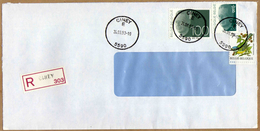 Enveloppe Cover Brief Aangetekend Registered Recommandé Ciney - Bélgica