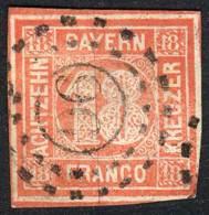 Yv.14a, 1861/2 18K. Vermilion, Nice Example, Fine Quality, Catalog Value Euros 550. - Bavaria
