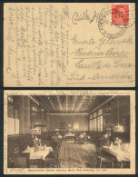 PC With Very Nice View Of  RESTAURANT, Sent From Berlin To Argentina On 5/JUL/1928, With Interesting Receiving... - Germany
