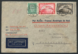 Airmail Cover Sent From Hamburg To Montevideo By Air France On 17/JUL/1931, With Nice Postage Of 5.05Mk. Including... - Germany