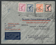 Airmail Cover Sent From Hamburg To Buenos Aires On 25/AU/1933 By Aeropostale, Franked With 1.85Mk, Lyon Transit... - Germany