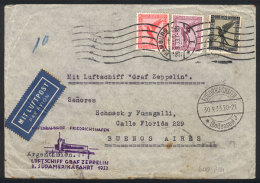 Cover Sent By Zeppelin From Hamburg To Buenos Aires On 29/SE/1933, Franked With 3.25Mk. Including Sc.C34 (US$160 On... - Germany