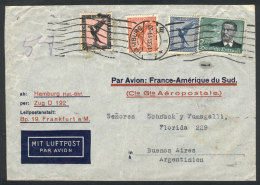 Airmail Cover Sent From Hamburg To Argentina On 16/DE/1933, By Air France (Marseille Transit Backstamp), Franked... - Germany