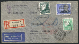Registered Airmail Cover Sent From Hamburg To Buenos Aires On 11/SE/1935 Franked With 3.55Mk., VF Quality! - Germany