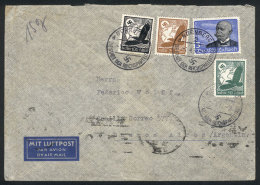 Airmail Cover Sent From Nürnberg To Buenos Aires On 1/AP/1937 Franked With 4.75RM., Including Michel 539x... - Germany