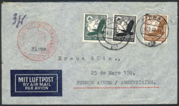 Airmail Cover Sent From Pirna To Argentina On 3/MAY/1937, Franked With 1.75Mk. - Germany