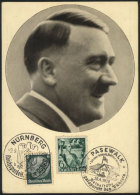 Special NAZI Postcard: View Of Hitler And Special Postmarks, VF Quality. - Germany
