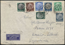 Airmail Cover Franked With 1.75Mk. (7 Different Stamps!), Sent From Barth To Argentina On 22/NO/1940, With O.K.W.... - Germany