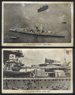 2 Rare PCs With Views Of The Cruiser GRAF SPEE, With Some Defects But Very Interesting! - Unclassified