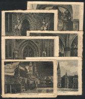 6 Old Engraved PCs, With Very Nice Views Of Bremen - Unclassified