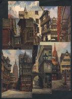 "FRANKFURT: 7 Old PCs With Views Of The ""Old Frankfurt"", Very Nice! - Germany"