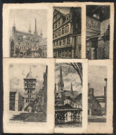 6 Old Engraved PCs, With Very Nice Views Of Bremen, Frankfurt And Lübeck - Unclassified