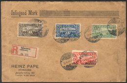 Sc.11/14, 1920 Referendum, The 4 High Values Of The Set On A Registered Cover Sent From Hadersleben To Hamburg On... - Schleswig-Holstein