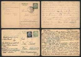 Lot Of 6 Covers Or Postcards Used Between 1938 And 1942 From Germany Or Austria, All Franked With German Stamps,... - Germany