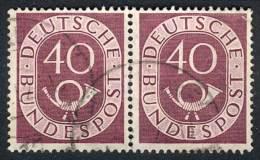 Michel 133, Used Horizontal Pair, Very Fine Quality, Catalog Value Euros 250. - [7] Federal Republic