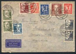 Lot Of 5 Covers Sent To Argentina Between 1950 And 1951 With Nice Postages, Fine General Quality (one Or Two Many... - [6] Democratic Republic