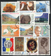 13 Modern Stamps, All SPECIMENS (specially Cancelled With Semi-circle), Excellent Quality, Very Scarce And VERY... - Spanish Andorra