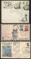 3 Covers Posted Between 1967 And 1972, Interesting Flights To Antarctica, Fine To VF Quality! - Argentina