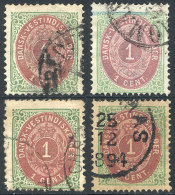 Sc.5, 4 Used Examples, Range Of Papers (thin, Thick Etc.) And Shades, VF Quality, Catalog Value US$120. - Stamps
