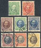 Sc.43/50, 1908 Frederik VIII, Complete Set Of 8 Used Values, VF Quality, Catalog Value US$114+ - Stamps