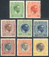 Sc.51/58, 1915 Christian X, Complete Set Of 8 Unused Values, VF Quality, Catalog Value US$31+ - Stamps