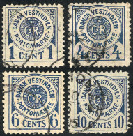Sc.J1/J4, 1904 Complete Set Of 4 Values, Used, VF Quality (the 10c. With Minor Thin On Reverse), Catalog Value... - Stamps