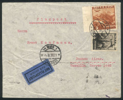 Airmail Cover Sent From Wien To Argentina On 4/MAR/1938 Franked With 3.60Sch., Minor Defects, Low Start! - 1918-1945 1st Republic