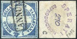 Sc.9, 1860 ½t. Blue, Sperati FORGERY, Excellent Quality, Rare! - Sicily