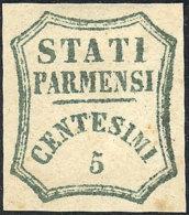 Sc.12, 1859 5c. Green, Sperati FORGERY, Excellent Quality, Rare! - Parma