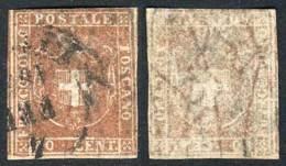 Yv.22 (Sc.22, $2000), 1860 80c. Light Chestnut, Used, Good Example!