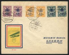 21/JUL/1928 Riga - Luzern, Flown Cover, VF Quality!