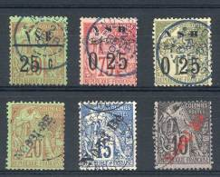 Yv.10 + 14 + 15 + 23 + 24 + 25, Used, Very Fine Quality, Catalog Value Euros 975.