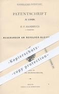 Original Patent - H. F. Hambruch , Hamburg 1880 , Revolver Bleifeder | Bleistift , Stift , Stifte , Feder , Schreibfeder - Historische Dokumente