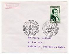 FRANCE => Env Scotem - 12F Laennec - 1er Jour Paris 1952 (Salon Philatélique D'Automne) - FDC