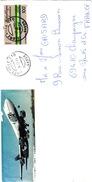 GABON - LETTRE AVION UTA . LIBREVILLE POUR CHAMPAGNE AUX MONTS D'OR 29.03.83 - Gabón (1960-...)
