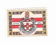 Vignette Militaire Delandre - Angleterre - Loyal North Lancashire - Erinnofilia