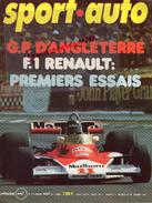 REVUE SPORT AUTO - VOITURE- AOUT 1976- N° 175- ANGLETERRE- F1 RENAULT-JAMES HUNT-GOLF-JABOUILLE-PORSCHE PERGUSA- PROST - Auto