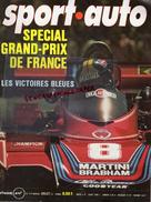 REVUE SPORT AUTO - VOITURE- JUILLET 1976- N° 174- GRAND PRIX FRANCE-LIGIER-FOLEMBRAY-SUEDE-GARDNER-LAUDA-24 HEURES MANS - Auto