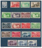 "Andorre YT 119 à 137 "" Paysages, 19 TP "" 1948-51 Neuf*"