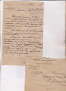 LETTRE COMMERCIALE   AVEC ENVELOPPE , SERVICE DES EAUX ET FORETS DE ST GIRONS (dpt 09)  En 1923! - 1900 – 1949