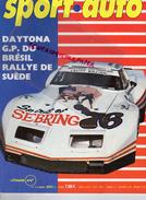 REVUE SPORT AUTO - VOITURE- MARS 1976- N° 170- DAYTONA-BRESIL-RALLYE SUEDE-BRIAN REDMAN-PORSCHE-BMW-LIGIER -BEGUIN - Auto
