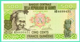 500 Francs Guinéens - Guinée - N°.AB4699451 - 1 Mars 1960 - Type 1985 - Neuf - - Guinée