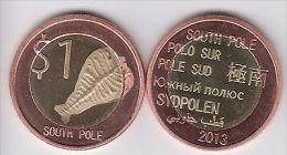 SOUTH POLE $1 2013 Bimetal Deepsea Animal , Fantasy Coinage - Monete & Banconote