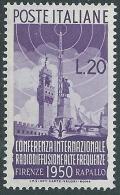 1950 ITALIA RADIODIFFUSIONE 20 LIRE MH * - W3-4 - 1946-60: Nieuw/plakker