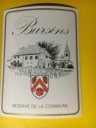 3224 - Suisse Vaud Bursins Réserve De La Commune - Etiquettes