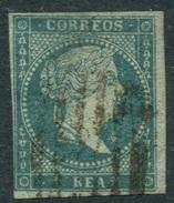 Ed 41, 1 Real Azul Filigrana De Lazos En Usado - 1850-68 Kingdom: Isabella II